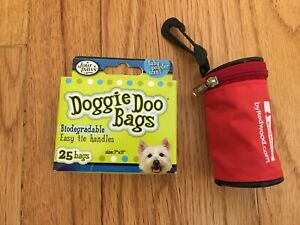 Four Paws Doggie Doo Bags 25 Bags, PLUS DISPENSER w/Extra ROLL -100% to Shelter