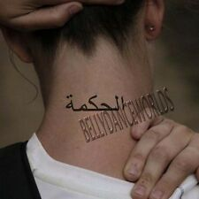 ARABIC LETTER WISDOM LOVE LIFE PEACE TEMPORARY TATTOO QUOTE BODY ART STICKER NEW