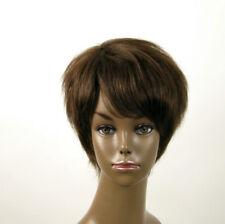 Perruque afro femme 100% cheveux naturel châtain ref JEAN 03/6
