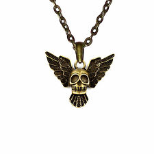 Halskette Kettenanhänger Schädel Herren Damen Halsschmuck Mode Schmuck 46 cm