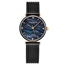 Stuhrling 3927 6 Mother of Pearl Stainless Steel Braided Mesh Womens Watch
