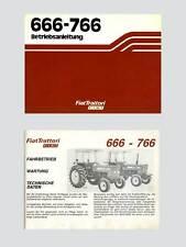 Fiat 666 766    Betriebsanleitung Traktor Schlepper Original 1982
