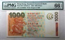 *Rare* PMG67/66 x 5, 2003 Hong Kong SCB *AA Prefix* Banknote Full Set($20-$1000)