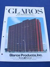 Glaros Products Wheeling Pittsburgh 1970's Catalog Asbestos History