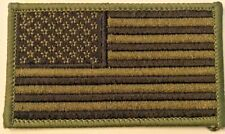 AMERICAN FLAG EMBROIDERED IRON ON PATCH US SUBDUED SHOULDER PATCH #4939