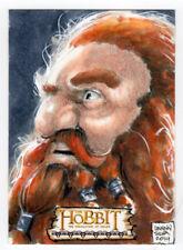 The Hobbit : The Desolation of Smaug Danny Silva Sketch Card - Gloin