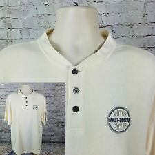 Harley Davidson Men's Large - Knit T-Shirt - Short Sleeve - IVORY - St. Croix HD