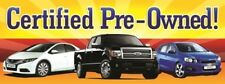 Certified Pre Owned Cars Vinyl Banner Sign - 3' X 8'