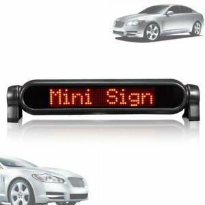 Red Digital LED Car Programmable Message Sign Moving Scrolling Display Board