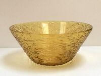VTG Large Amber Gold Yellow Anchor Hocking Fire King SORENO Salad Serving Bowl