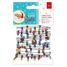 Love Santa Papermania Christmas Craft Collection - Christmas Lights Trim
