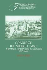 Cradle of the Middle Class: The Family in Oneida County, New York, 17901865 (Int