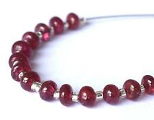 NATURAL RED SPINEL BEADS RONDELLE 3 - 4 MM 15 PCS GEMSTONE BEADS #S116