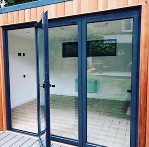 Thermo Aluminum Bi fold Doors 3 panels inc Double Glass, plus bug screen
