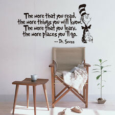 Pretty Decors DR SEUSS MORE THAT YOU READ YOU KNOW Saying Quote Wall Sticker WE9