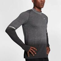 Nike Dry Mens Long Sleeve Running Top Athletic Shirt Size XL Dark Gray 885304