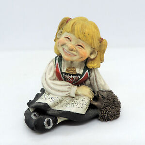 Candy Designs Norway Norwegian Girl with Hedgehog Figurine