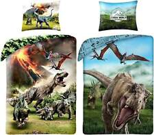 Jurassic World 2 X Dino Bedding Reversible Duvet Bed Ware Set T-Rex Dinosaur