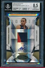 STEPHEN CURRY 2009-10 CERTIFIED MIRROR GOLD AUTO ROOKIE #D/25 SP BGS 8.5/10 MINT
