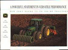 """John Deere 75 to 100hp """"6000 Series"""" Tractor Brochure Leaflet"""
