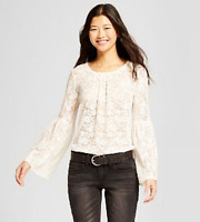 ✅ NEW!! Women's Long Sleeve Lace Top - Mossimo Supply Co.& PINK/CREAM
