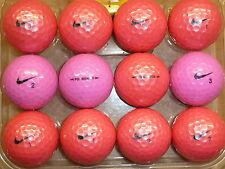 12 Pearl Grado A Rosa / Viola Nike PD DONNA PALLINE DA GOLF superba qualità e prezzo