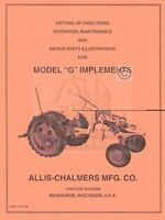 ALLIS CHALMERS G Implement Operator Service Part Manual