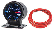 "52mm 2"" DIGITAL LED TURBO BOOST BAR GAUGE Blue Red Green Orange + Red Hose"