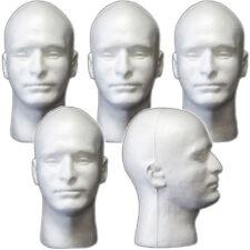 LESS THAN PERFECT MN-409 5 PCS Male Styrofoam Foam Mannequin Head