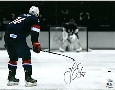 "T.J. Oshie Washington Capitals Signed 16"" x 20"" Sochi Shootout Spotlight Photo"