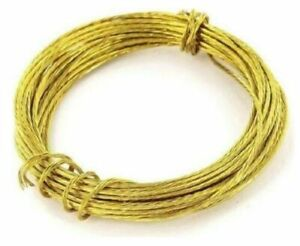 6 Meter BRASS Picture Wire Cable Cord Wall Hanging Photo Mirror Frame Hanger 6m
