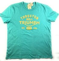 NWT NEW Men's Lucky Brand Triumph Motorcycle Thruxton 865cc T-Shirt Top Tee