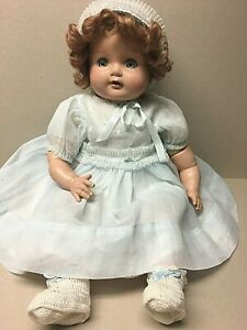 """Composition & Cloth 23"""" BABY DOLL W/Cryer, Sleep Eyes & Original Outfit-1930-40!"""