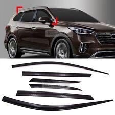 ⭐6pcs⭐ 3M Tape Deflector Window Visor Door Smoke fits SANTA FE 6-7 seat 16-2019