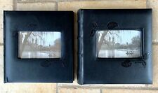 "2 New Black Pioneer Photo Albums 4x6"" 400 Photos Leatherette Archival Acid-Free"