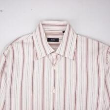HUGO BOSS Button Front Dress Shirt Long Sleeve Striped Mens 16-34/35
