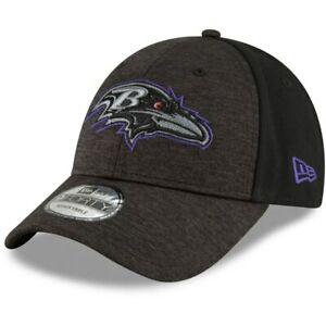 Baltimore Ravens New Era 9Forty Shaded Front Black The League Strap Back Hat