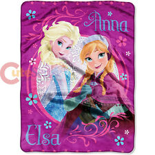 Disney Frozen Anna Elsa Blanket Plush Microfiber Twin Throw - Loving Sisters