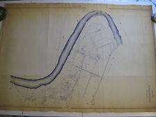 ROMA Mappa Catastale n.807 Magliana Tevere Villa Bonelli Pian due Torri 1943 c