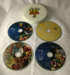 Toy Story 3 (Blu-ray/DVD, 2010, 4-Disc Set) w/ Hard Plastic Carry Case - Tested