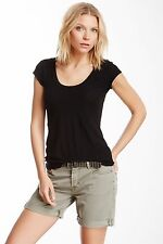 NWT JAMES PERSE Sz3(M/L)CASUAL SHEER CAP SLEEVE TEE IN BLACK. $95.00