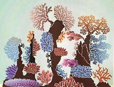 2  Large Coral Reef Corner  Wall Stencils   44 x 33