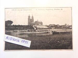 AK Ansichtskarte 1914 Magdeburg, G. Stahlberg, Dampferfahrt