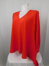 Rachel Roy Curvy Collection Asymmetrical Handkerchief Hem Top 2X Red #3095