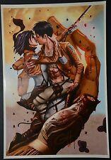 Hajime Isayama Attack on Titan Print Signed Greg Horn Print