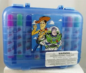 Toy Story 1996 MARKER SET case markers stamps Pad crayons BUZZ Woody Disney