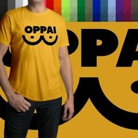 One-Punch-Man Manga Anime Saitama Oppai Mens Crew Neck Tee Unisex T-Shirt Cotton