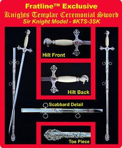 Knights Templar Sir Knight Sword Masonic Freemason (KTS-3SK)