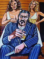 DEADWOOD PRINT poster hbo western ian mcshane al swearengen western sexy booze