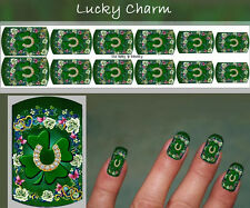 NAIL ART DECAL STICKERS WATER SLIDE lucky irish horse Reighin Schempp